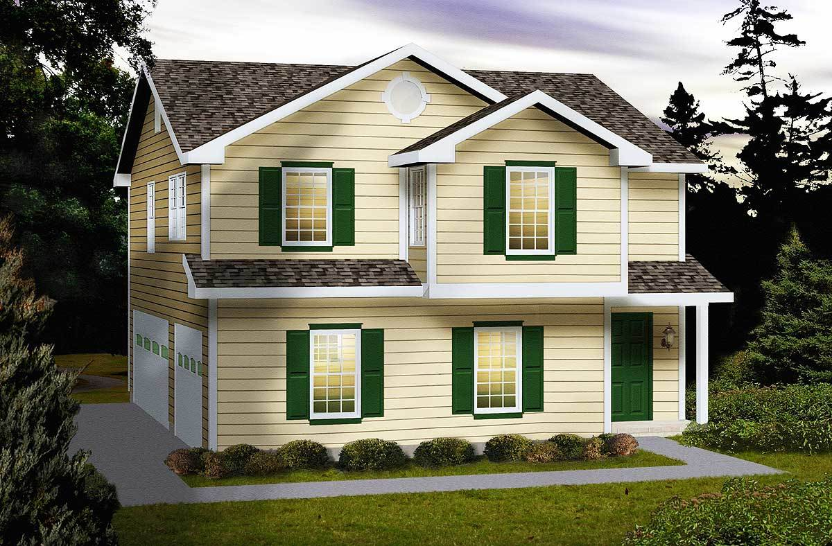 Side entry carriage house plan 2288sl architectural for Carriage home designs