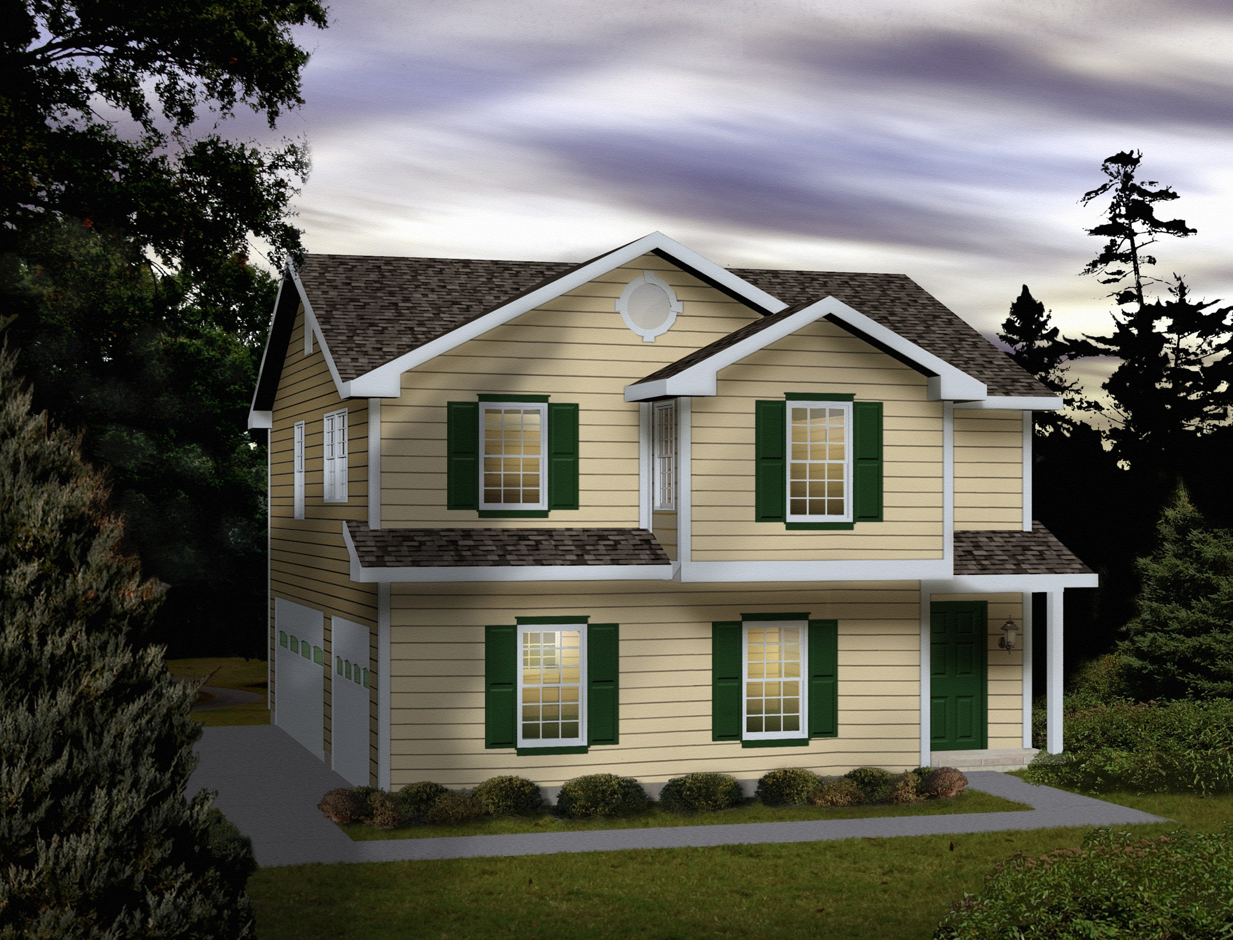 Side entry carriage house plan 2288sl 2nd floor master for 3 car garage with apartment