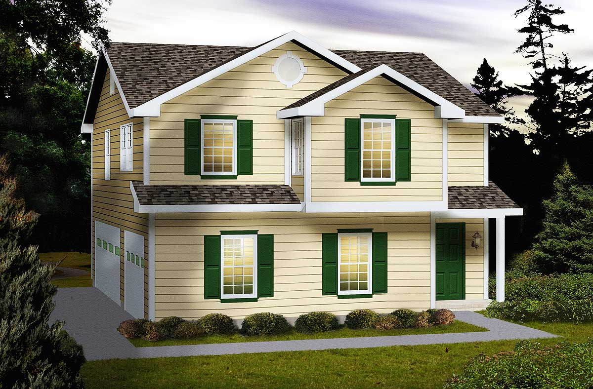 Side entry carriage house plan 2288sl 2nd floor master for Carriage house plans small