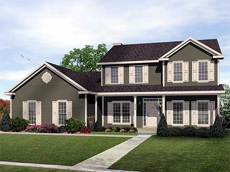 Two story traditional home plan design 2289sl 1st for Traditional 2 story house