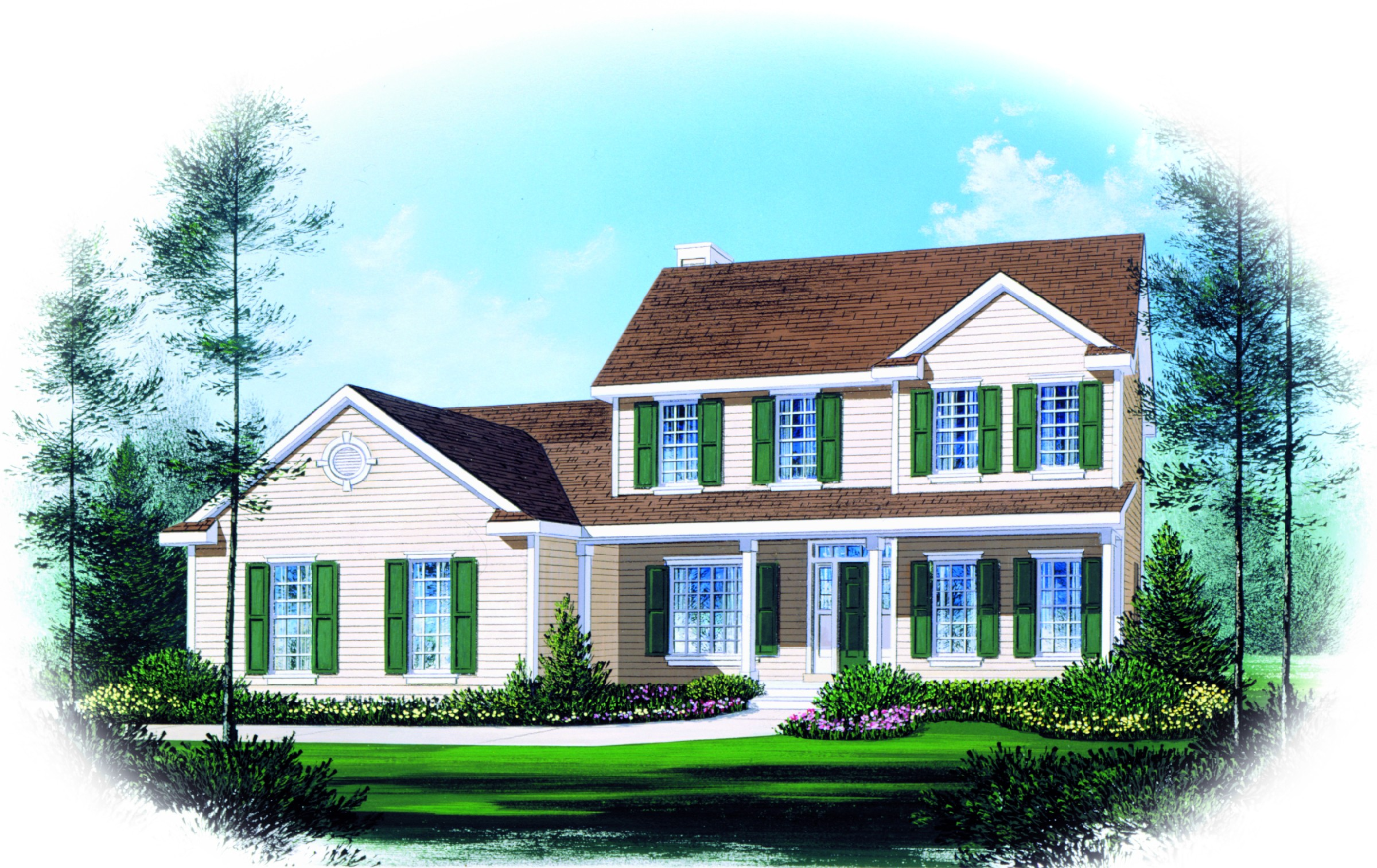 two story traditional home plan design 2289sl 1st