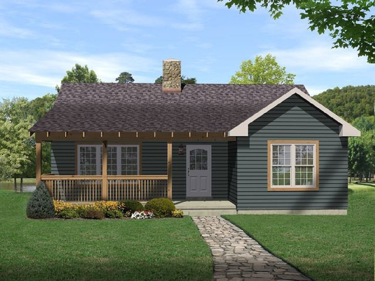 Cottage with vaulted ceilings 2291sl architectural for Home plans with vaulted ceilings