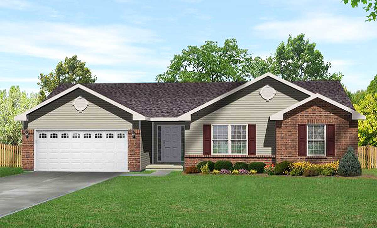 Traditional ranch home plan 2296sl 1st floor master for Traditional ranch house plans
