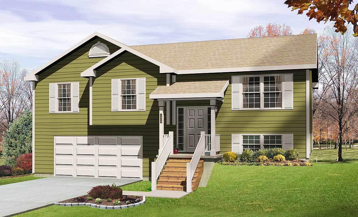 Cozy split level house plan 2298sl architectural - Modern split level house plans designs ...