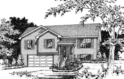 Cozy Split-Level House Plan - 2298SL thumb - 02