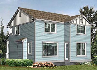 Northwest house plan for narrow corner lot 2300jd for Narrow corner lot house plans