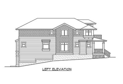 Classic craftsman styling with drive under garage for Drive under garage house plans