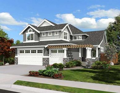 Craftsman house plan with angled foyer 23038jd for Angled entry house plans