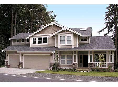 Northwest Craftsman Home Plan 23039jd Architectural