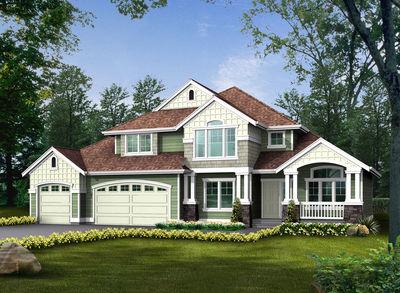 Craftsman Family House Plan - 23045JD thumb - 01