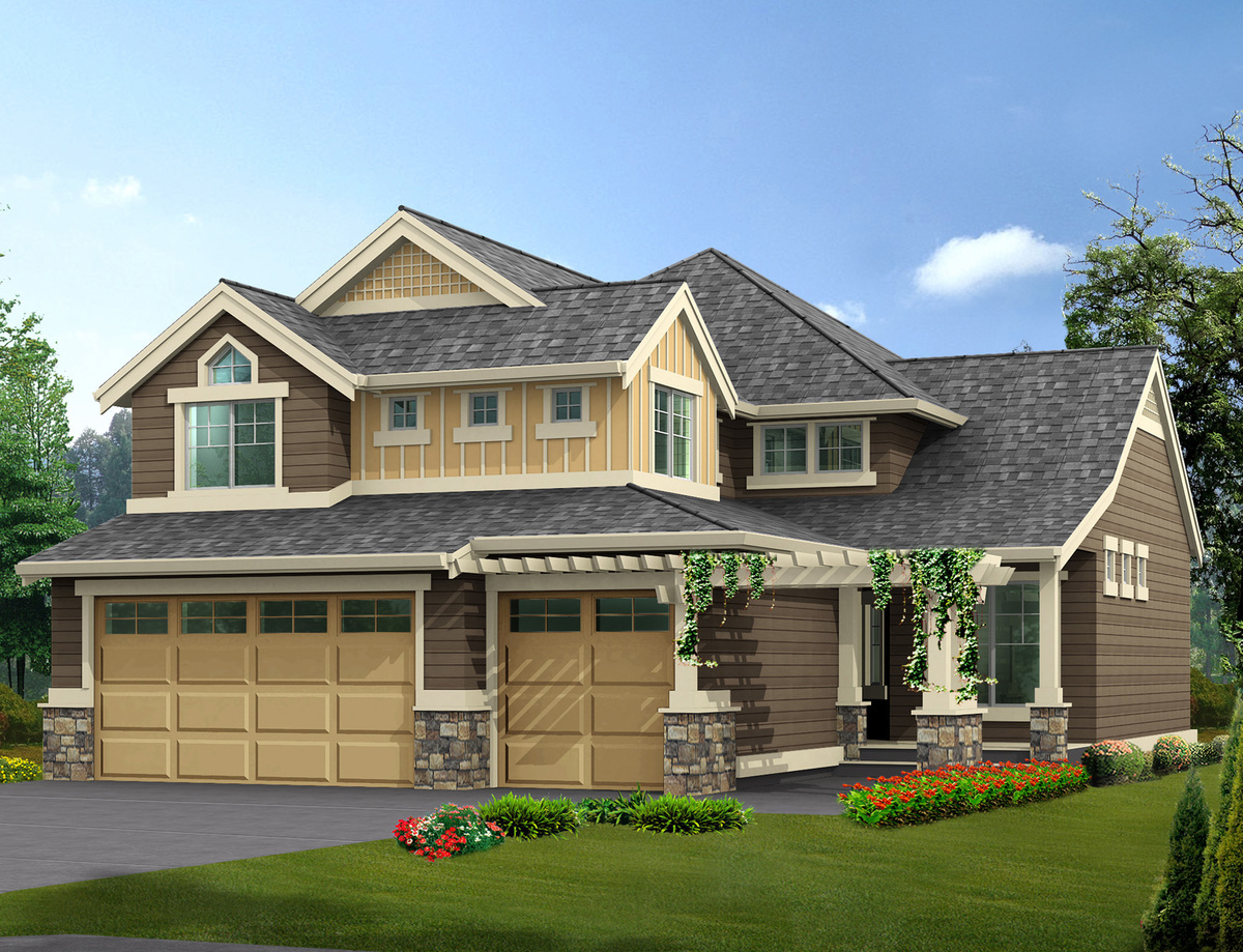 Narrow lot home with finished basement 23072jd for House plans with finished photos