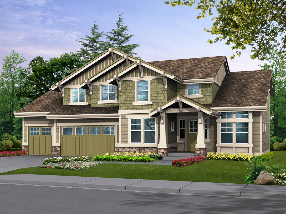 Oversized garage offers extra parking or shop 23080jd for House plan with garage