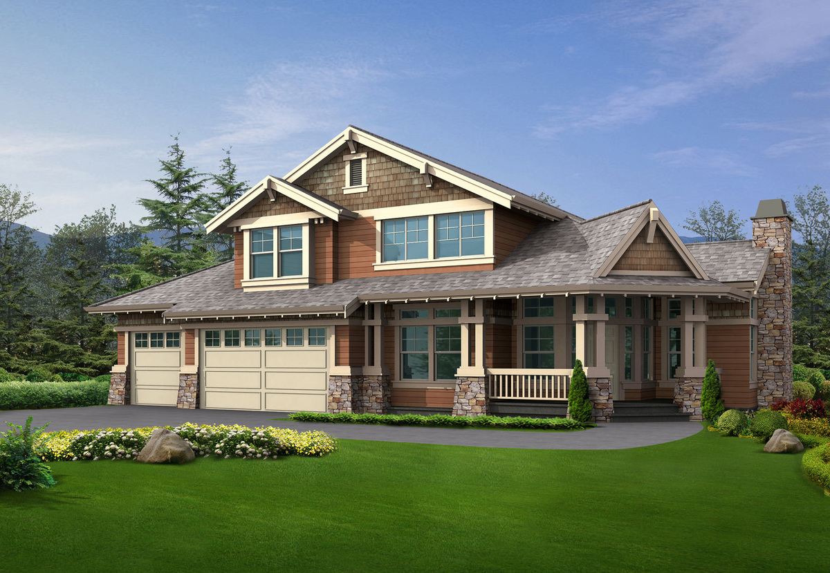 Beautiful home for a corner lot 23106jd architectural for Corner lot home plans