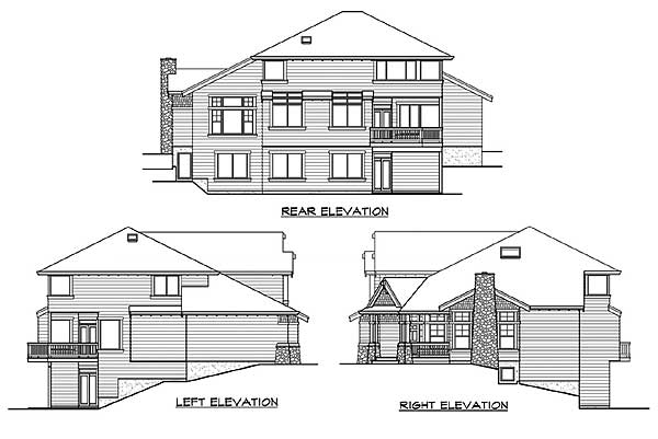 Angled entry with view to back of house 23107jd 2nd for Angled entry house plans