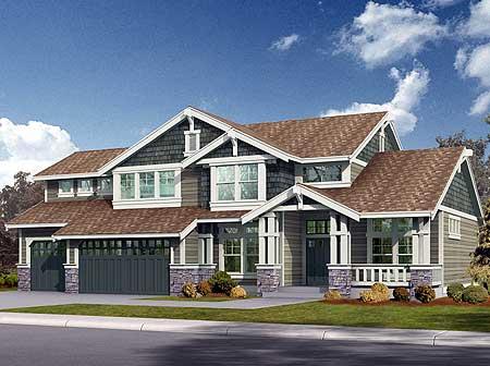 Northwest craftsman home plan 2311jd 2nd floor master for Northwest craftsman style house plans