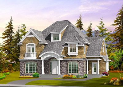 Charming Cottage with Greatroom Design - 23117JD thumb - 23