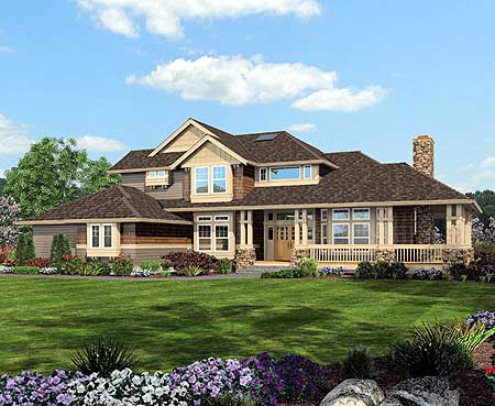 Craftsman style porch 2313jd 2nd floor master suite for Craftsman style house plans with wrap around porch