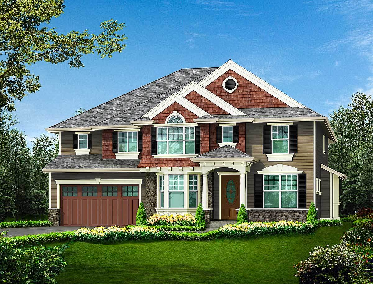 Tandem Garage House Plans: Three Car Tandem Garage Or Room For Workshop
