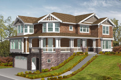 Stately Hilltop Home Plan   23154JD Thumb   02
