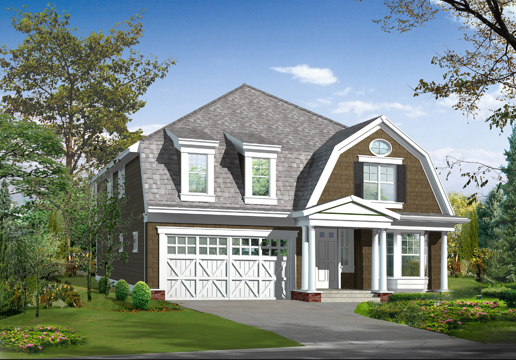 Country craftsman home plan 23155jd 2nd floor master for Country craftsman