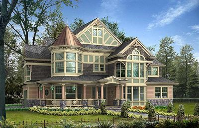 impressive luxurious victorian house plan - 23167jd