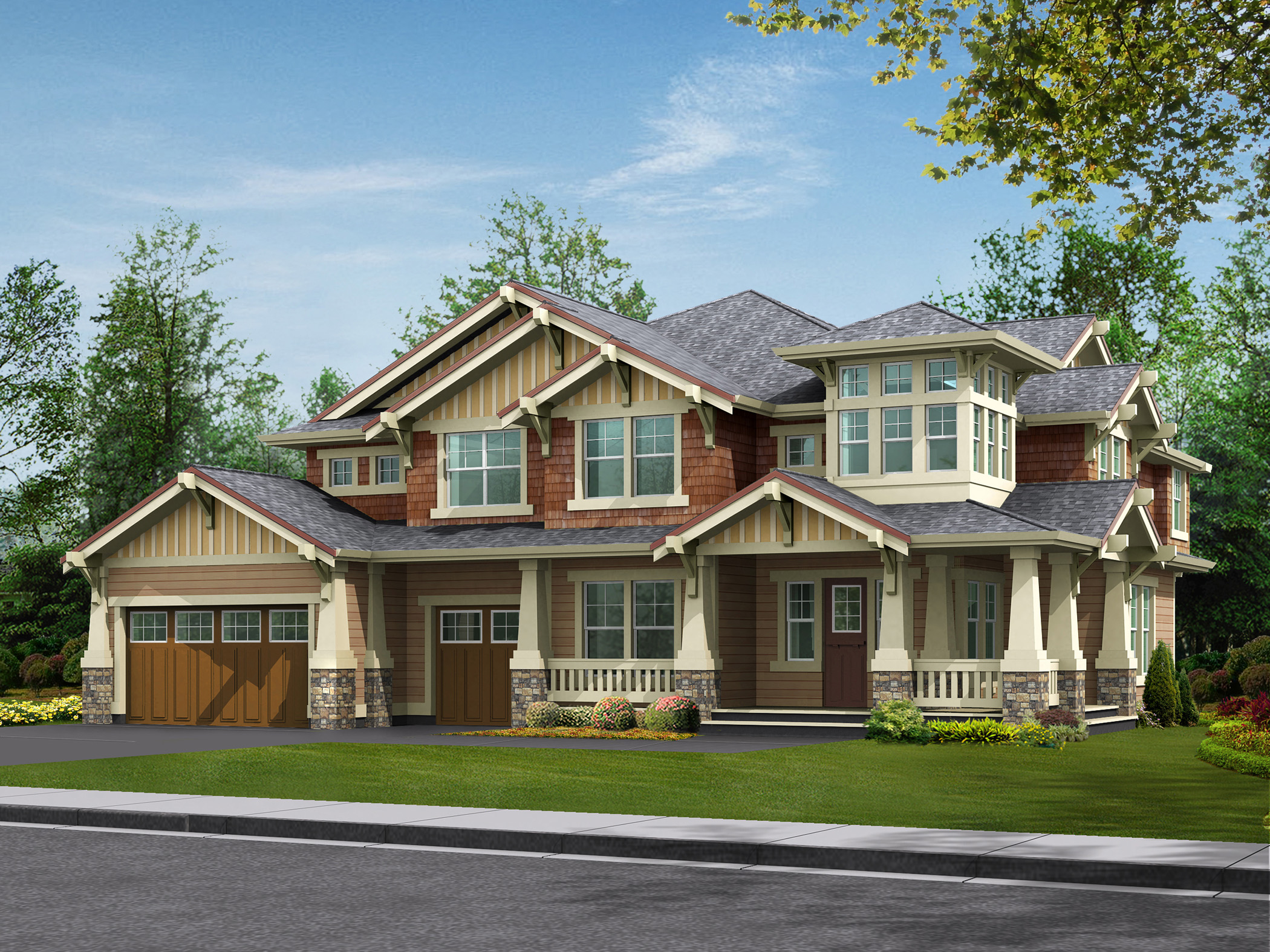 Craftsman detailing at its finest 23173jd for Architectural designs com