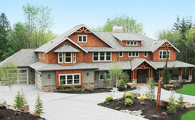 Luxury Craftsman House Plan with Options 23180JD Architectural
