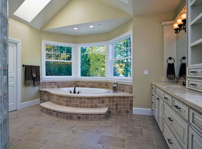 flooring for a small bathroom luxurious five master bath with circular sho 23184