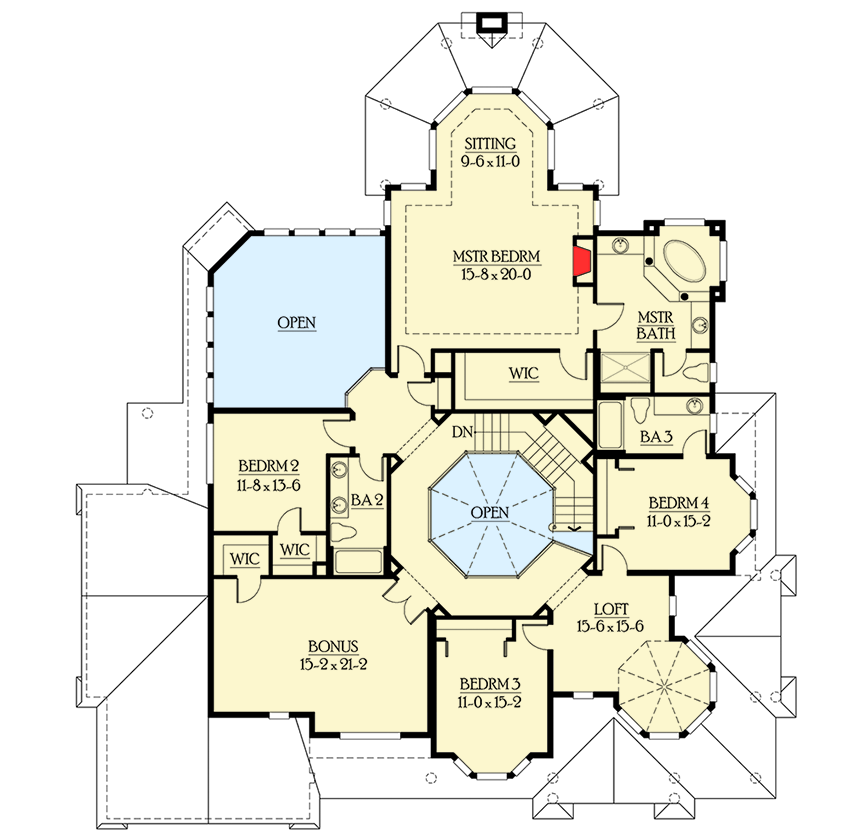Spacious Covered Outdoor Living with Fireplace - 23187JD floor plan - 2nd Floor