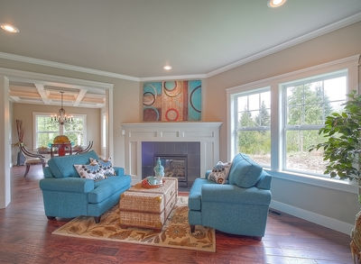Substantial Columns and Trim Create Bold Facade - 23188JD thumb - 14