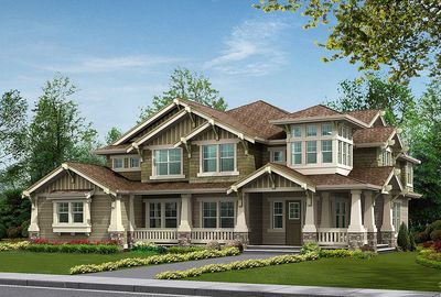Substantial Columns and Trim Create Bold Facade - 23188JD thumb - 44