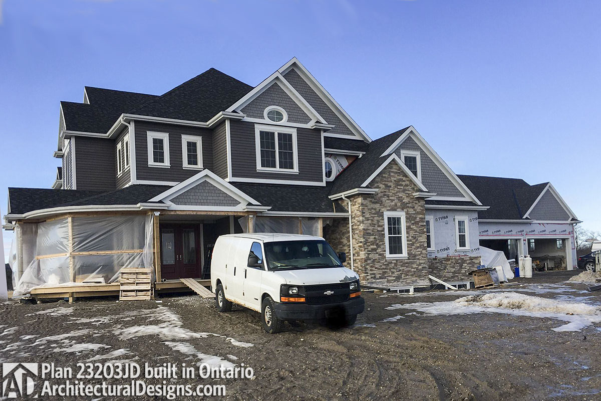 Farmhouse Plan 23203JD comes to life in