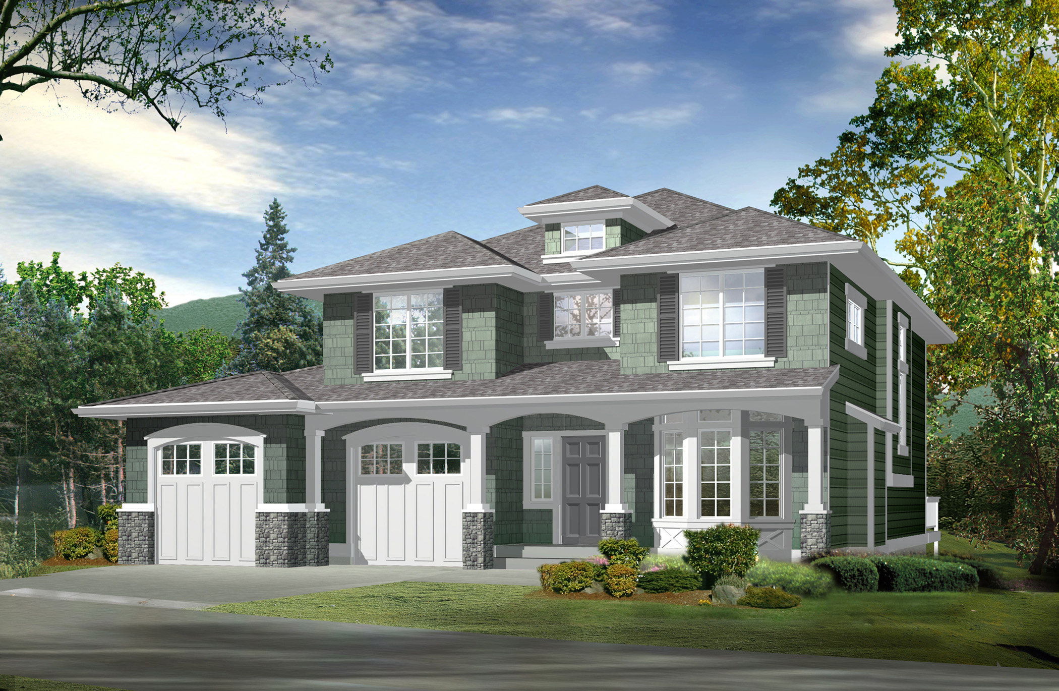 compact house plan with finished basement 23245jd