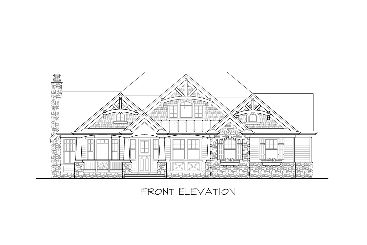 Stunning Craftsman Home Plan - 23256JD - 19