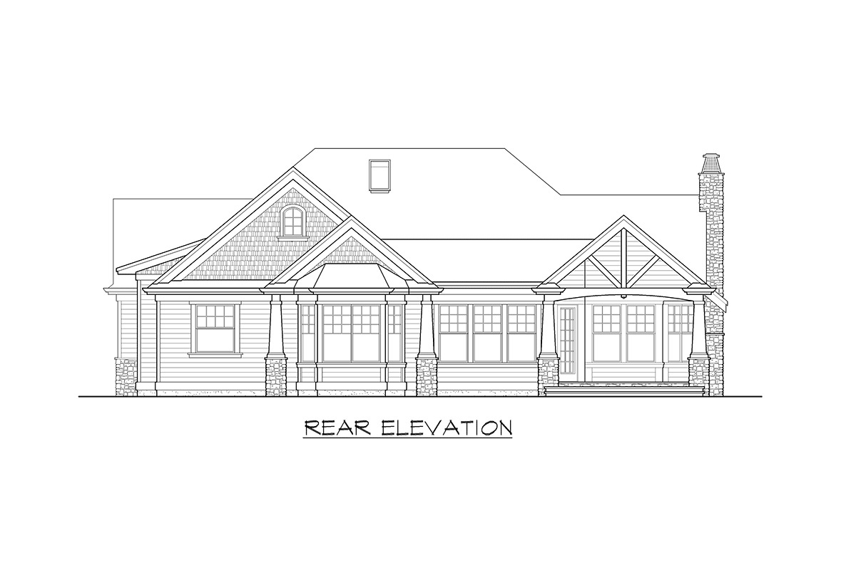 Stunning Craftsman Home Plan - 23256JD - 21