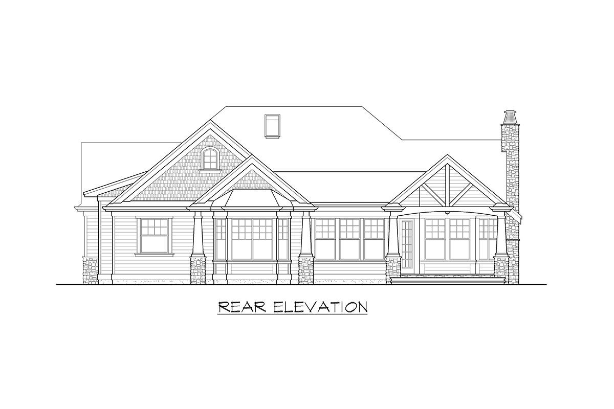 Stunning Craftsman Home Plan - 23256JD - 21