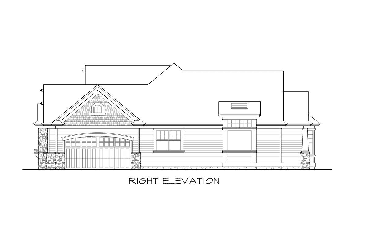 Stunning Craftsman Home Plan - 23256JD - 22