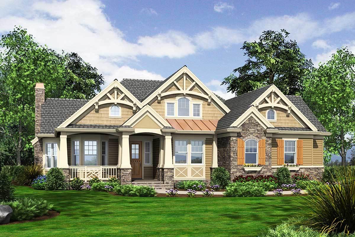 Stunning Craftsman Home Plan - 23256JD - 02