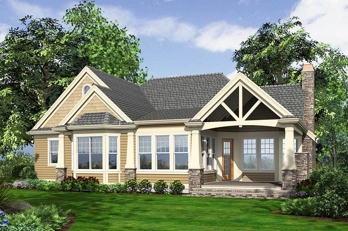 Stunning Craftsman Home Plan - 23256JD - 18