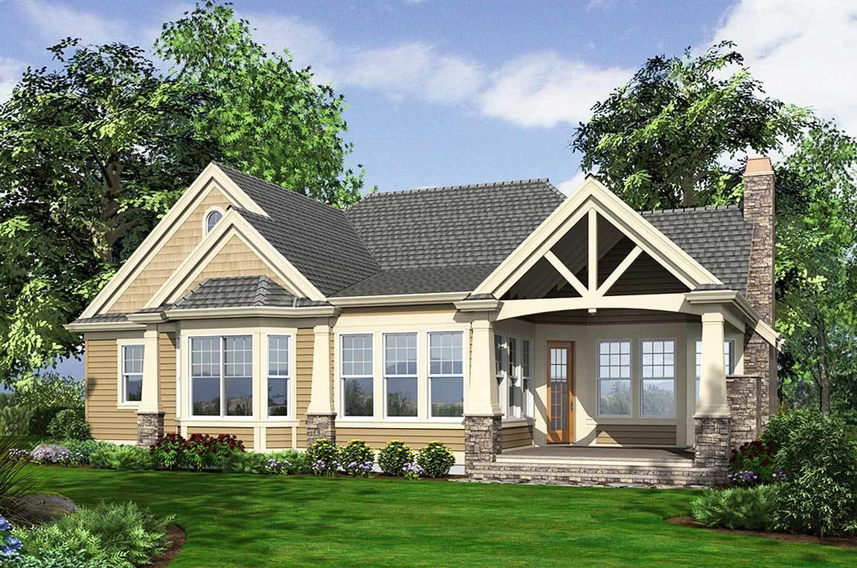 Stunning Craftsman Home Plan - 23256JD - 18