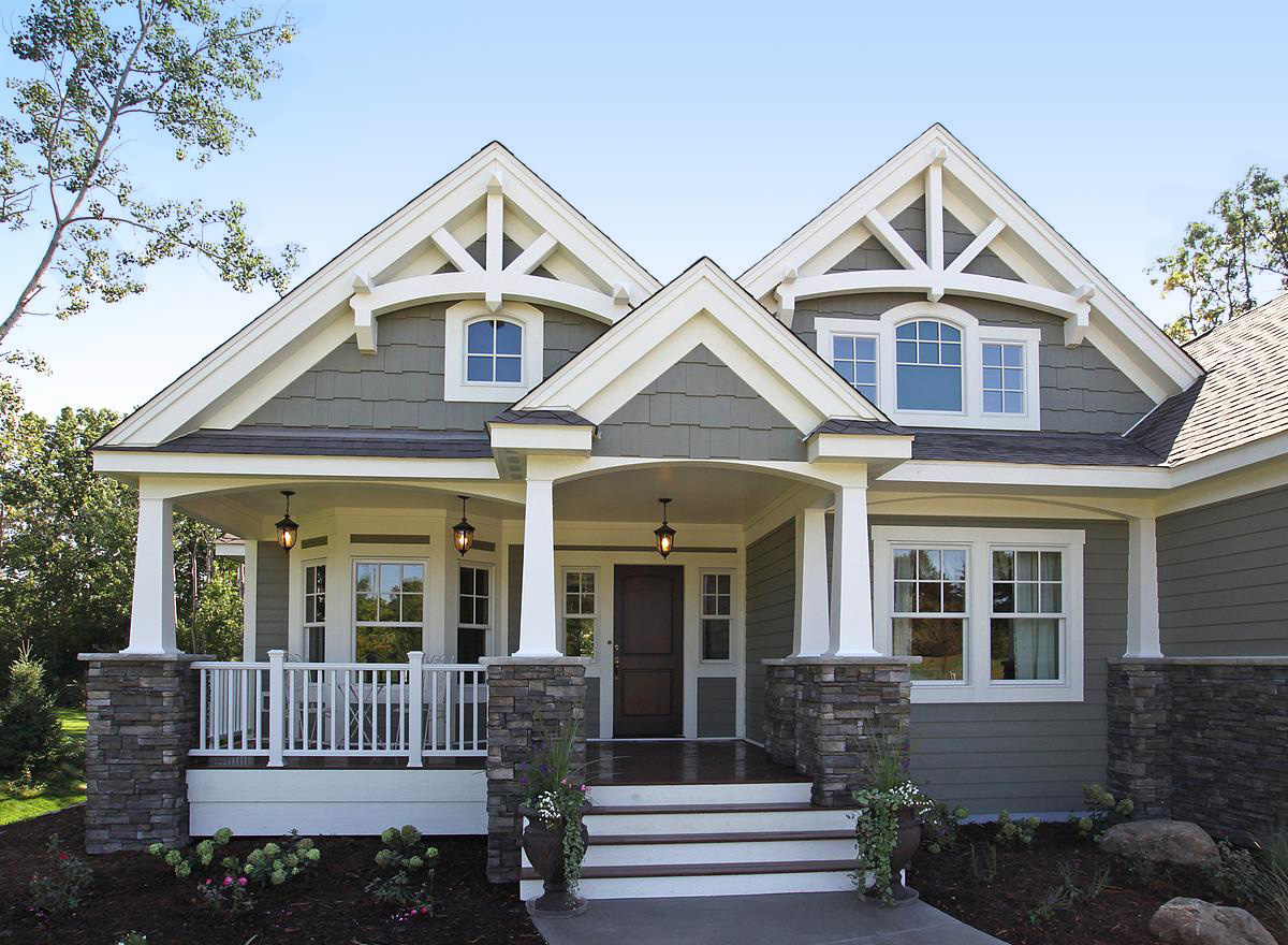 Stunning Craftsman Home Plan JD
