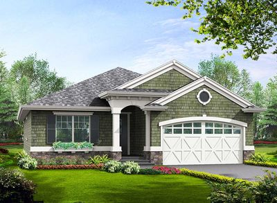 Simple Craftsman Ranch with Options - 23260JD thumb - 01
