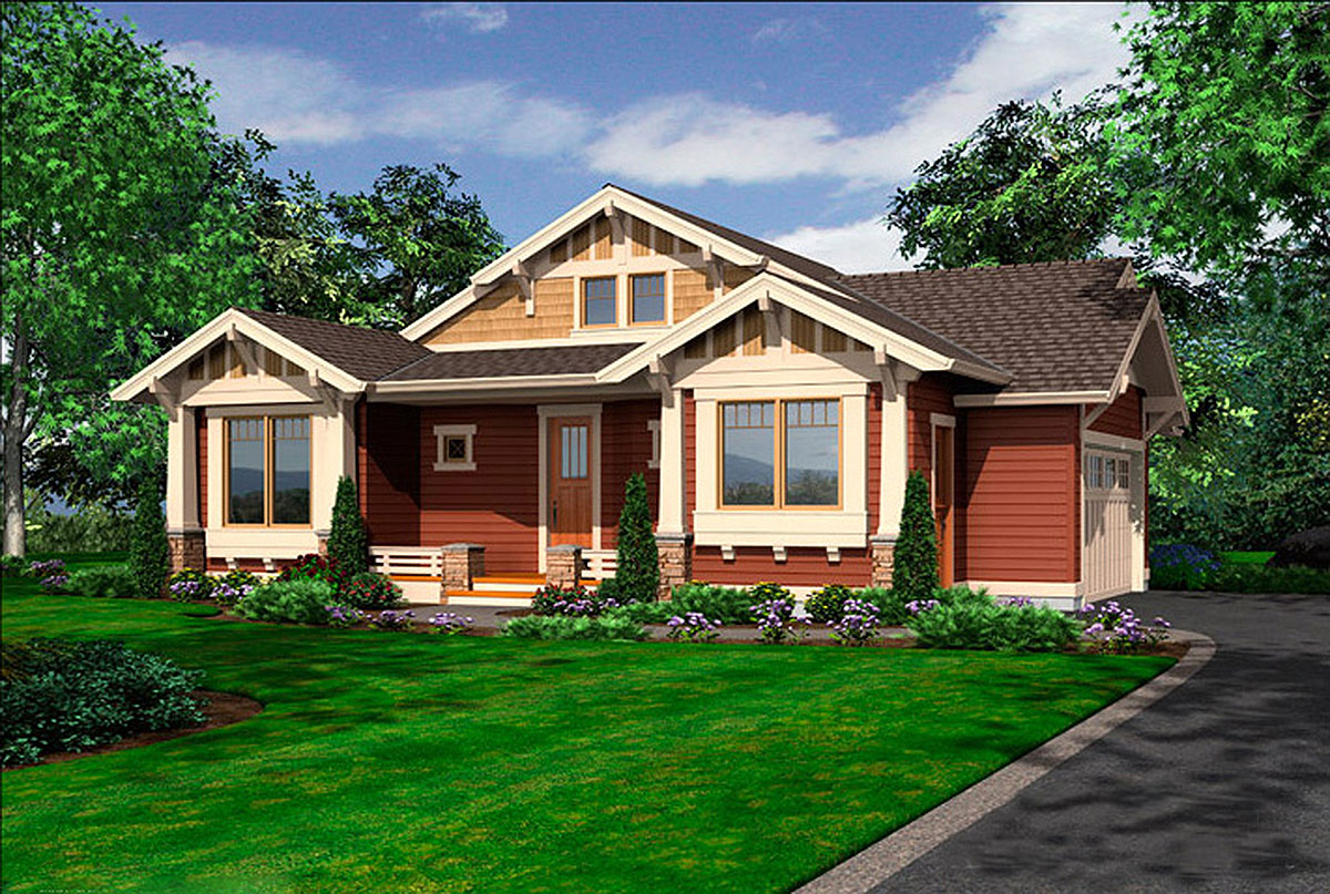Tidy One Story Bungalow 23262jd Architectural Designs