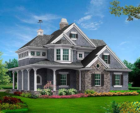 Architectural designs for Shingle style homes
