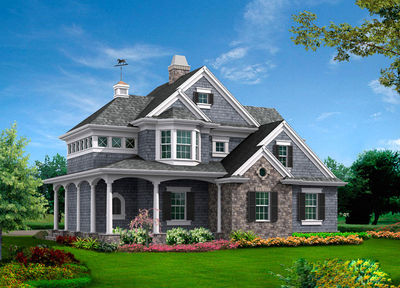 Shingle Style Guest House Plan - 23265JD thumb - 01