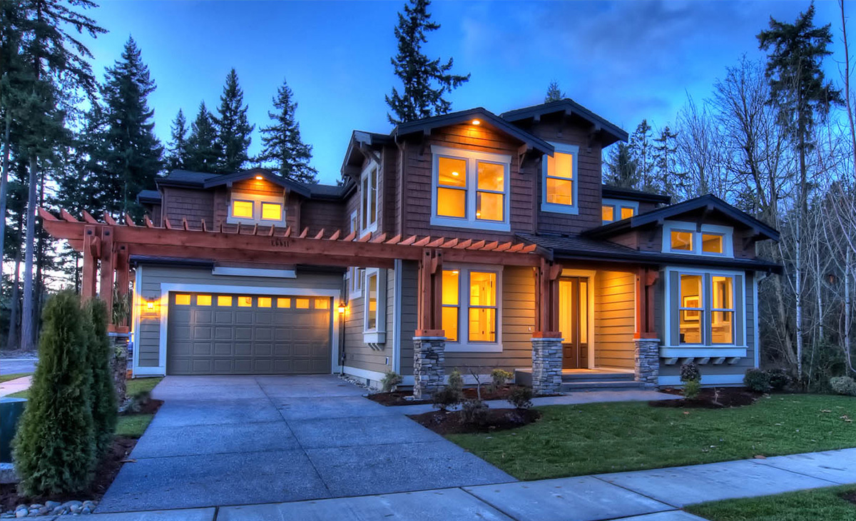 Unique Craftsman with Central Patio - 23274JD ...