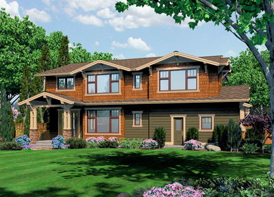 Unique Craftsman with Central Patio - 23274JD thumb - 20