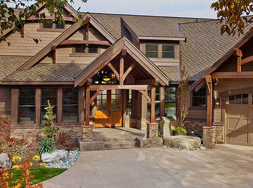 Luxury craftsman with front to back views 23284jd 1st for Luxury mountain home floor plans