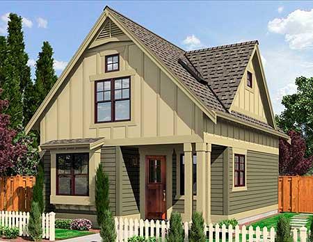 Narrow Lot Cottage 23292jd 2nd Floor Master Suite Cad