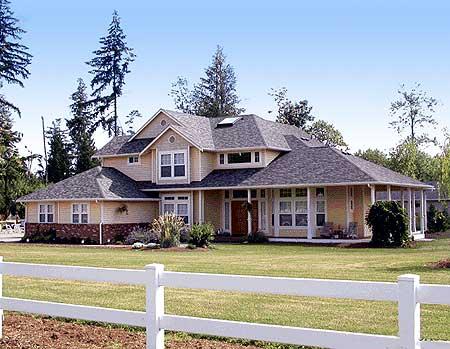 Craftsman style porch 2313jd craftsman northwest for Craftsman house plans with wrap around porch